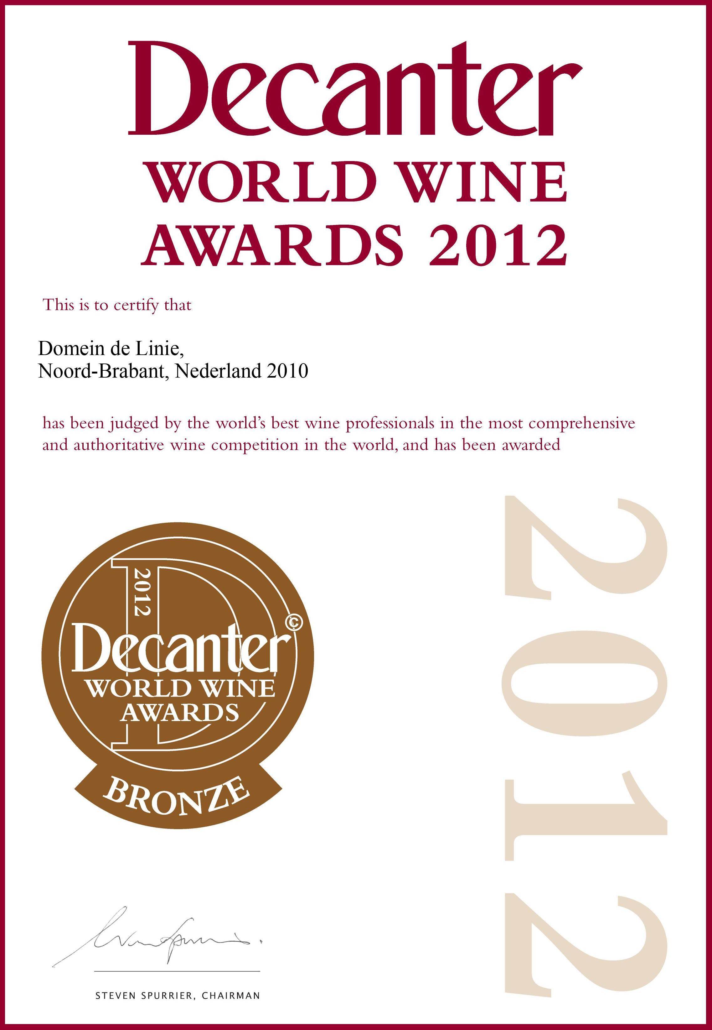 Decanter Medaille 2012
